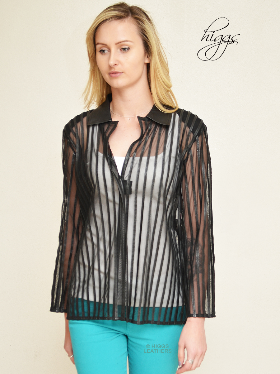Higgs Leathers {HALF PRICE!}  Adala (ladies see through shirt) ONE ONLY - HALF PRICE!