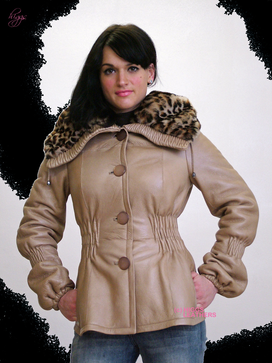 Higgs Leathers LAST ONE! Delicia (ladies Designer Shearling jackets)