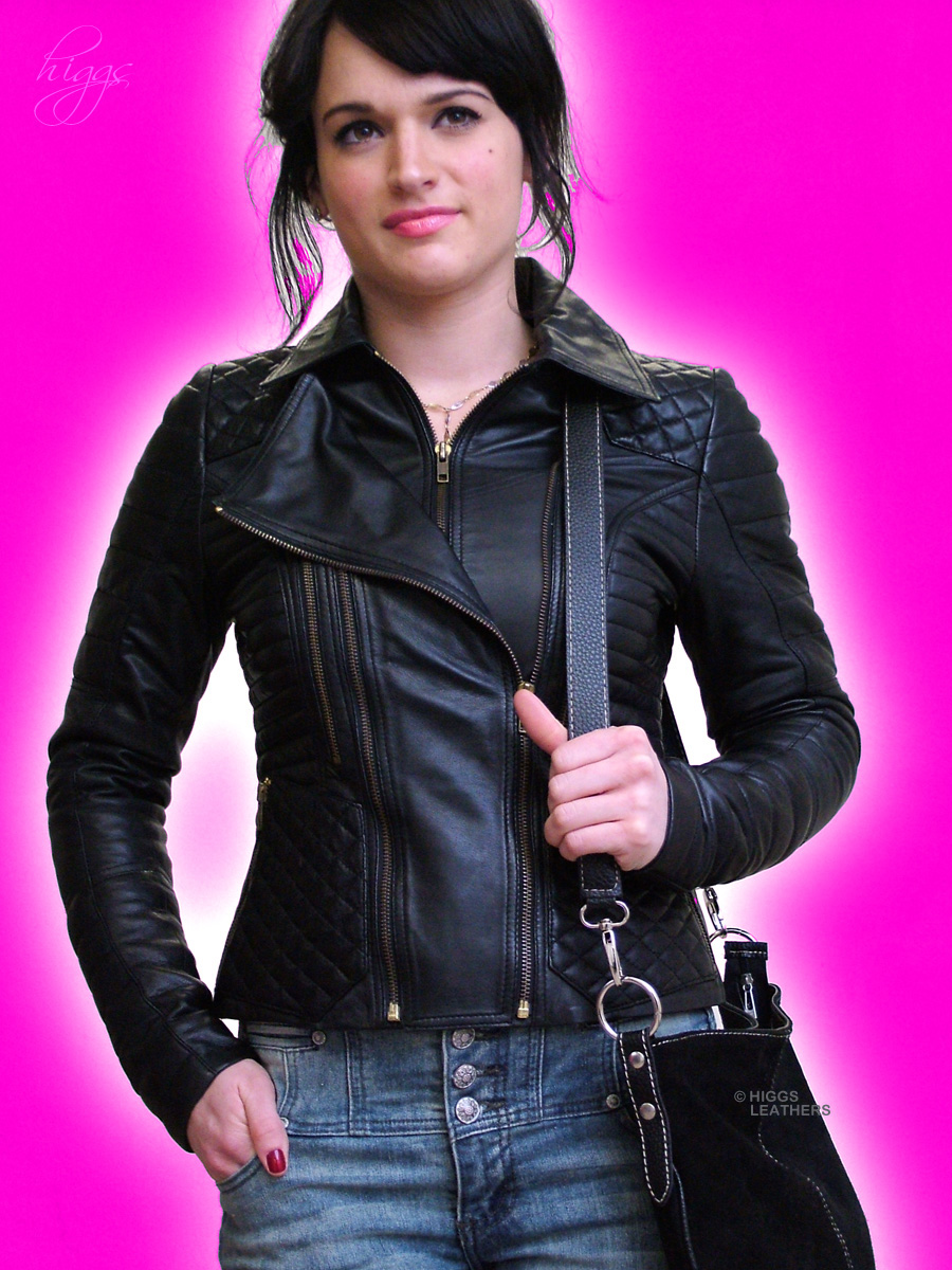 Higgs Leathers  Kadie (Designer Black Leather jackets)