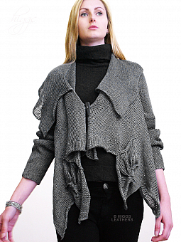 Higgs Leathers ONE ONLY!  Zimzim (ladies Designer Knitwear jacket)