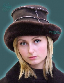Higgs Leathers TWO ONLY! Hekki (ladies brimmed Sheepskin hats)