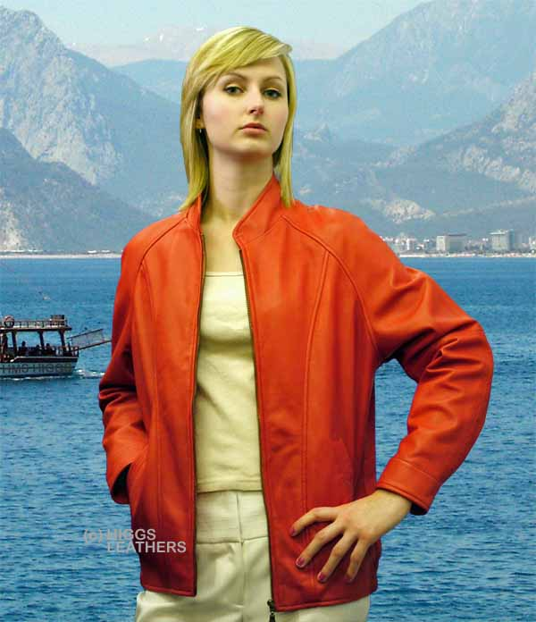 Higgs Leathers Anne (women's leather blouson jackets) LAST FEW!