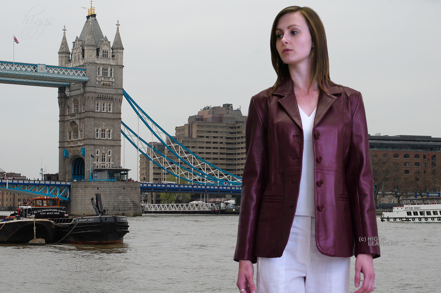 Higgs Leathers {LAST FEW!}  Bron (long blazer style women's leather jackets)