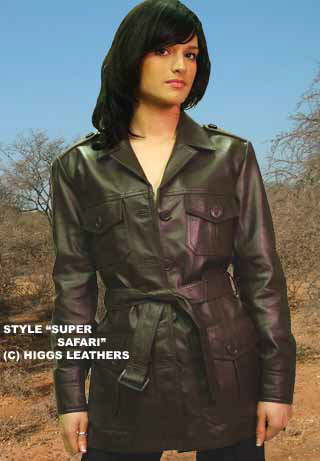Higgs Leathers Super Safari! (women's leather jackets)