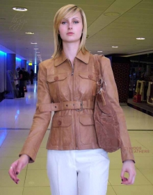 Higgs Leathers Penny (ladies belted leather Safari jackets) LAST ONE!