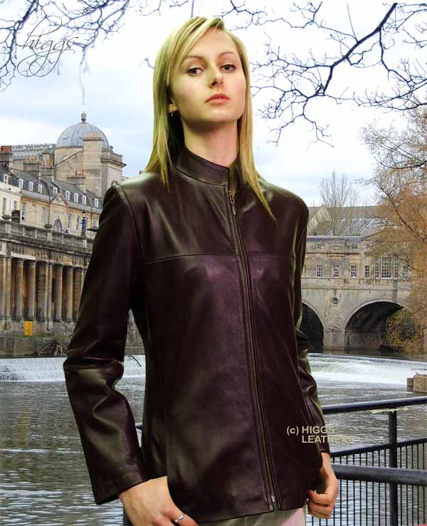 Higgs Leathers LAST ONE! Tabatha (longer women's leather biker jackets)