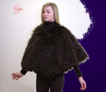 Higgs Leathers ALL SOLD UNDER HALF PRICE!  Posie (ladies Faux Fur Poncho)