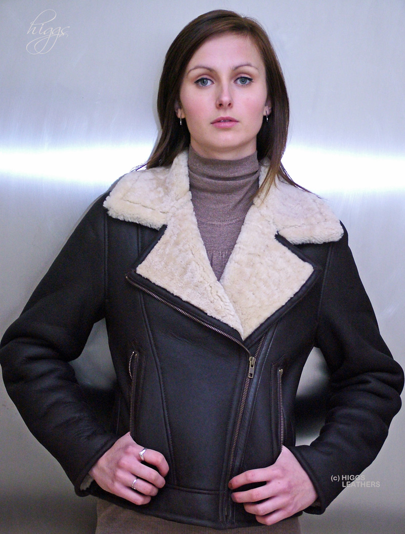 Higgs Leathers Amelia (ladies Merino Shearling flying jackets) SAVE £100!