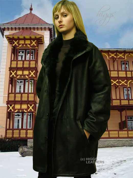 Higgs Leathers Debita (ladies length Nappa Toscana Shearling Coat)