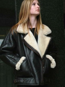 Higgs Leathers Earhart (Ladies Merino Shearling flying jacket)  OUTSTANDING QUALITY!