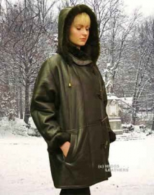 Higgs Leathers Debbie (Hooded 3/4 length women's Toscana Lambskin coats)