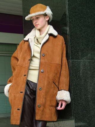 Higgs Leathers Wessex (women's classic Shearling 3/4 coats)  Now available in all sizes from 32' to 52' bust!