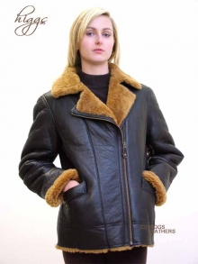 Higgs Leathers Flossie (ladies Sheepskin Flying jacket)   LAST FEW AT THIS LOW PRICE!
