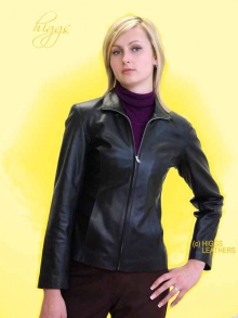 Higgs Leathers LAST ONE!  Blyss (womens black leather bikers jackets)