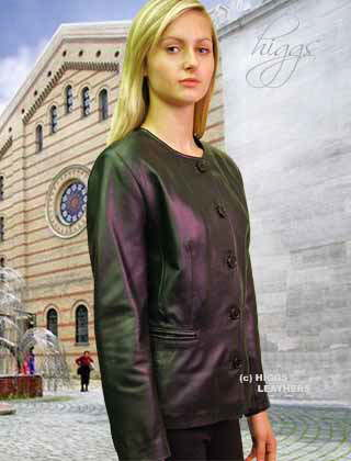 Higgs Leathers ALL SOLD! Naomi (Collarless women's leather jacket)