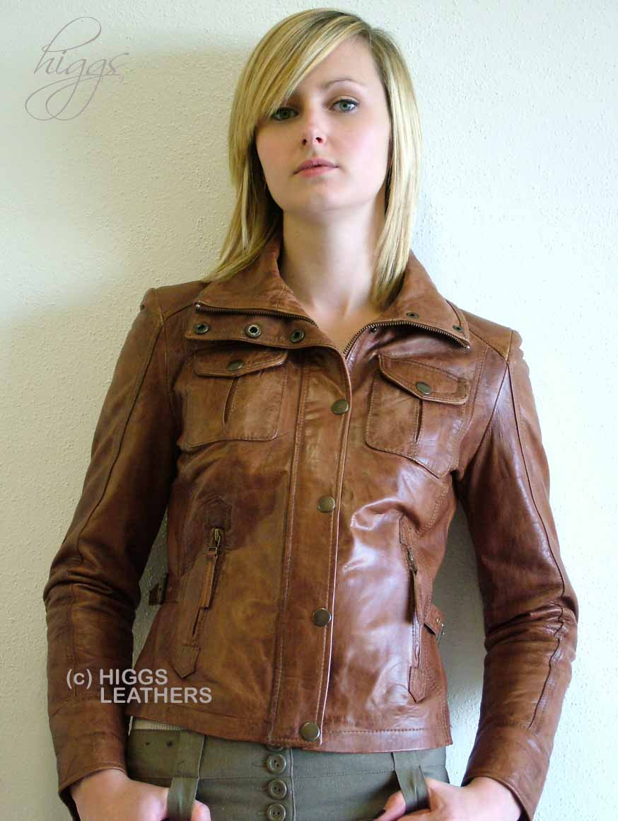 Higgs Leathers Jean (women's Bikers leather jackets) LAST FEW IN THIS COLOUR!