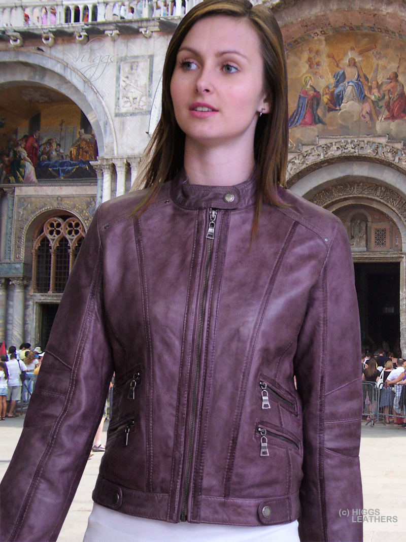 Higgs Leathers ALL SOLD! Patsy (ladies leather bikers jackets) Designer style - Budget price!
