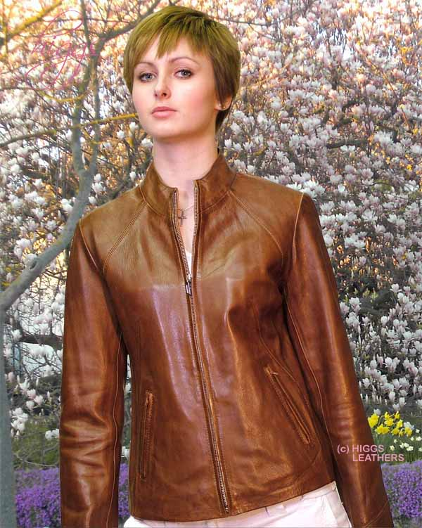 Higgs Leathers {NEW LOWER PRICE!}  Pippa (bikers style women's leather zip jackets)