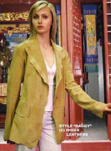 Higgs Leathers Raggy (ladies Kidskin Suede blazer jackets)