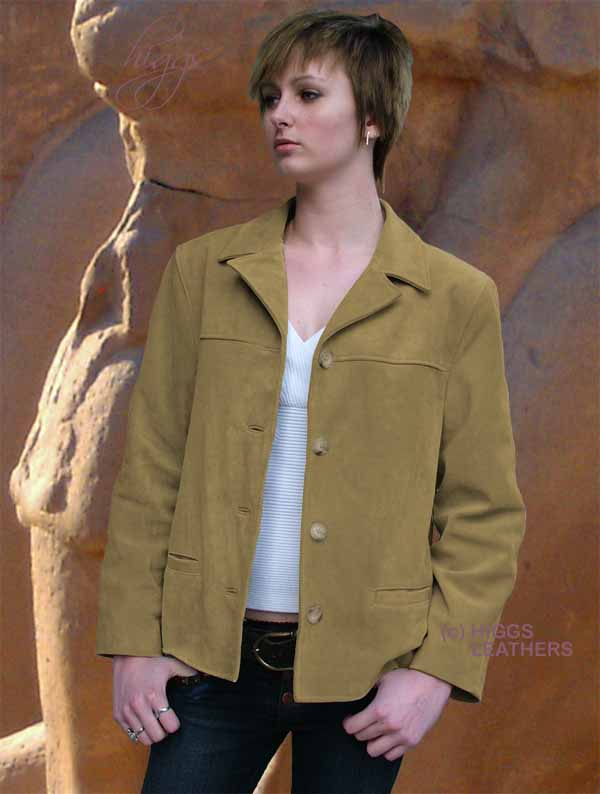Higgs Leathers Jenny (25' long ladies suede jackets) - LAST ONE! LAST ONE!