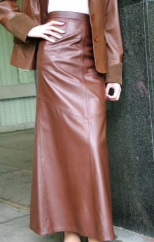 Higgs Leathers Charlene (Special quality women's brown leather skirts) LAST 1 AT THIS PRICE!