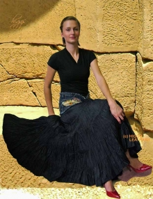 Higgs Leathers HALF PRICE!  Gypsy Rose (Extra full long black cotton skirts)