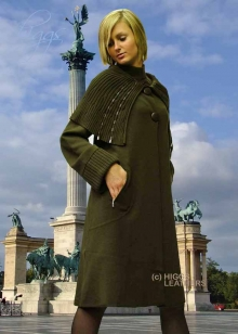 Higgs Leathers LAST ONE HALF PRICE!  Trieste (ladies Designer Knitwear coat)