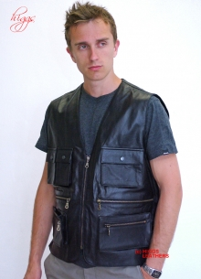 Higgs Leathers ALL SOLD! Poachers (man's leather body warmer)