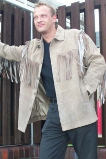 Higgs Leathers Kit (men's Fringed Beige Suede jackets)