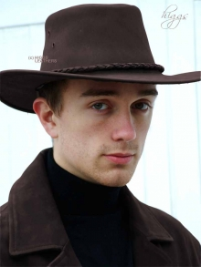 Higgs Leathers ALL SOLD!  Texan (men's Nubuck Leather Cowboy hats)