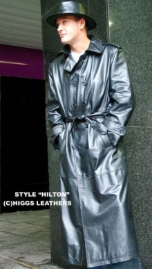 Higgs Leathers NEW STOCK!  Hilton (mens Leather Trench Coats)