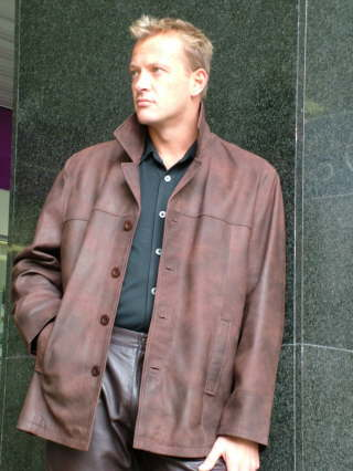 Higgs Leathers {FEW ONLY SAVE £100!}  Brad (Nubuck leather jacket) From our huge selection of Leather jackets for men!