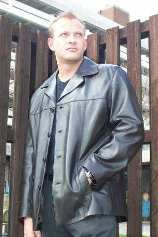 Higgs Leathers Brian (easy cut Black Leather jackets for men) PLUS SIZES UP TO 54' CHEST IN BLACK ONLY!