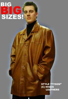 Higgs Leathers Tyson (Plus size Leather jackets for men)