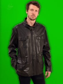 Higgs Leathers LAST ONE! Paudrick (Special quality men's Black Designer Leather jackets)