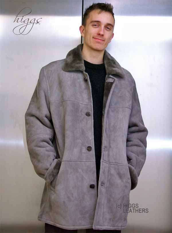 Higgs Leathers Ben (3/4 length men's Shearling coats) NEW STOCK!