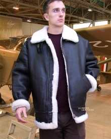 Higgs Leathers SAVE £140!  British Fighter (mens sheepskin flying jackets)