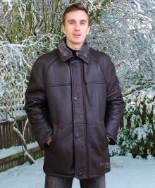 Higgs Leathers LAST ONE! Randall (3/4 length men's sheepskin coats)