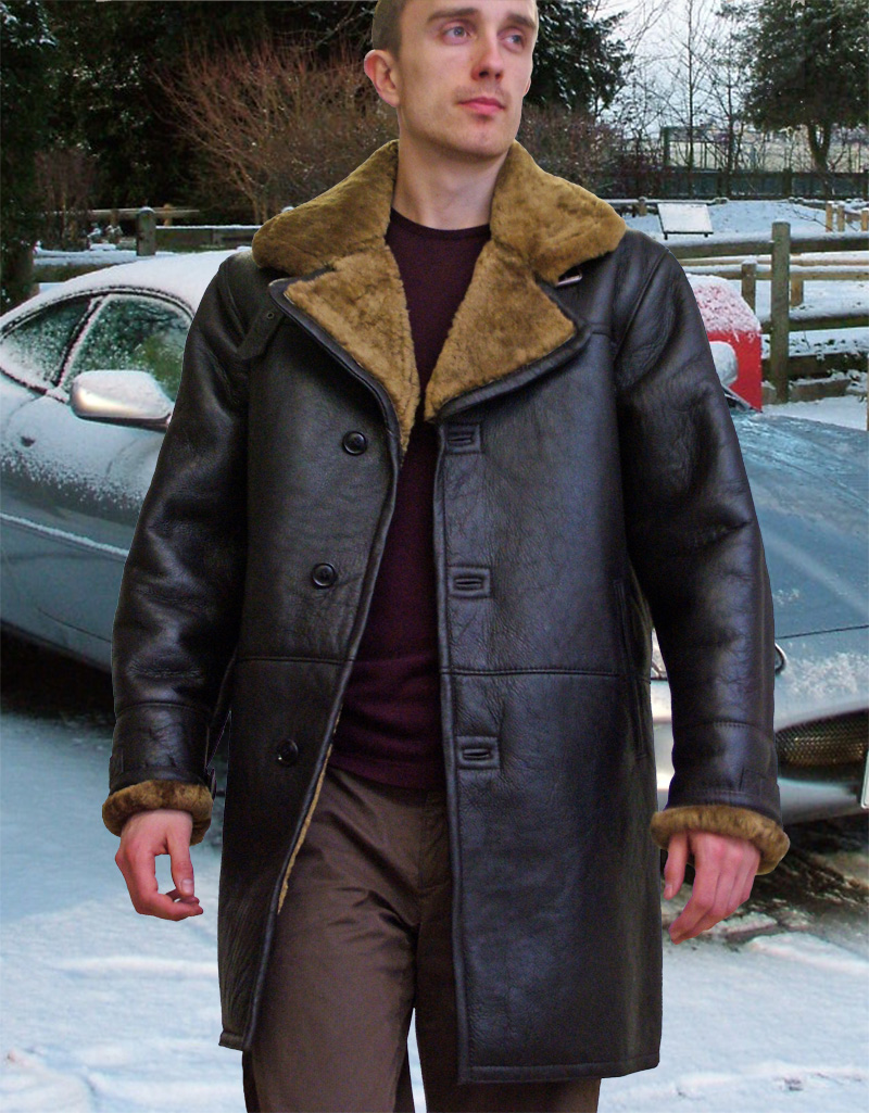 Higgs Leathers {NEW IN!}  Raymond (7/8th length men's sheepskin coat)