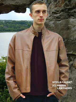 Higgs Leathers {NEW STOCK!}  Jude (men's tan leather jackets)