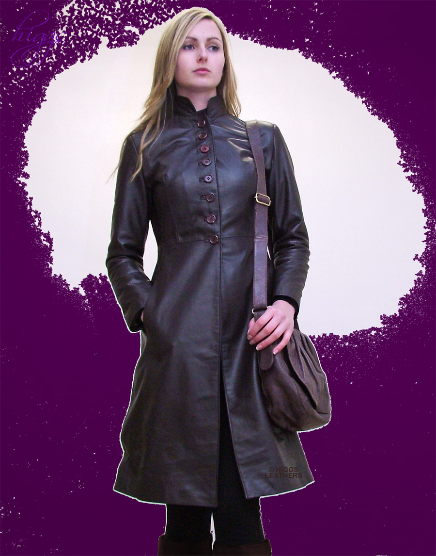 Higgs Leathers LAST FEW! Trinny (ladies fitted Leather 7/8th. coats)