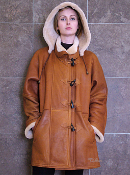 Higgs Leathers ALL SOLD!  Debbie (ladies Nappa Shearling Duffle Coats)