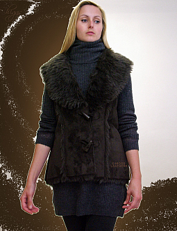 Higgs Leathers PLUS SIZES!  Gilea (ladies Faux Sheepskin Gilets)
