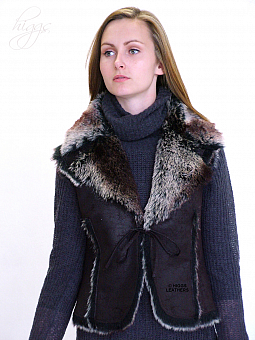 Higgs Leathers ALL SOLD!  Maeve (ladies Faux Sheepskin gilet)