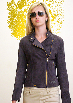 Higgs Leathers LAST TWO SAVE £100!  Polly (ladies Kidskin Suede Biker jackets)