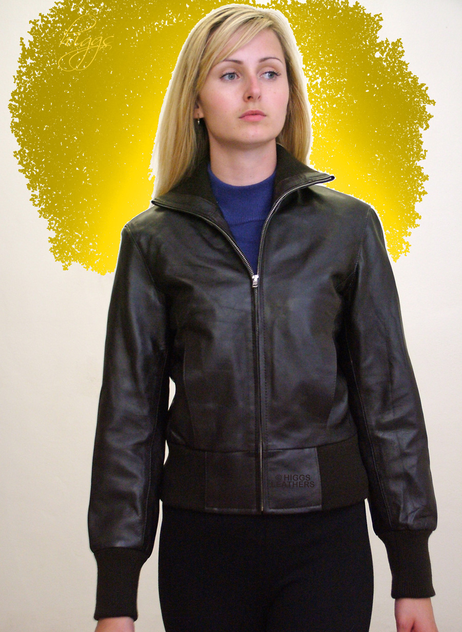 Higgs Leathers {}  Ittsie (ladies leather bomber jackets)