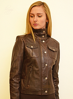 Higgs Leathers Jean (ladies Designer Leather Biker jackets)