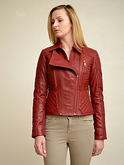 Higgs Leathers Kadie (ladies Red Leather Biker jackets)
