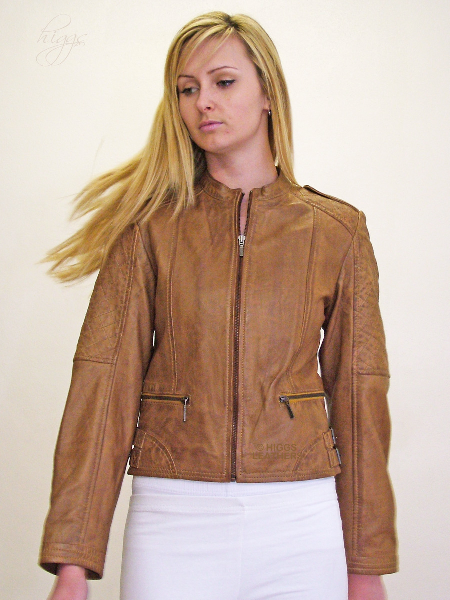 Higgs Leathers {NEW}  Rula (ladies quilted leather bikers jackets) From our selection of women's Designer style leather bikers jackets!