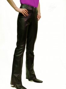 Higgs Leathers LAST FEW!  Bobette (ladies Bootleg style leather trousers)